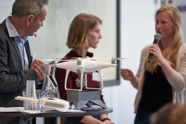 Drones tijdens de kick-off AgriFoodInnovation. Foto Oscar Vinck.